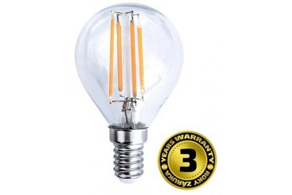 Solight LED žárovka retro, miniglobe,teplá bílá 4W, E14, 3000K, 360°, 440lm
