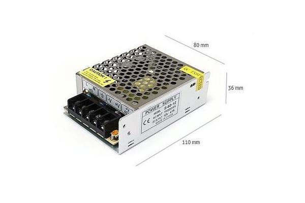 Napájecí zdroj pro LED pásky 4,2A 50W 12V DC plech