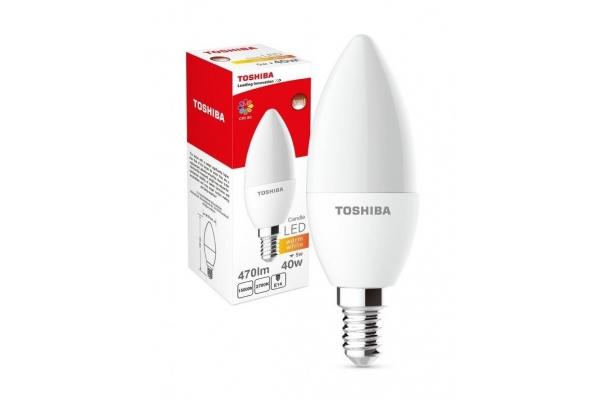 TOSHIBA LED žárovka Berge  - E14 - C37 - CCD - 5W - 470Lm - teplá bílá - záruka 5let
