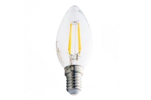 LED žárovka Berge - E14 - 6W - 600Lm - svíčka - filament - neutrální bílá