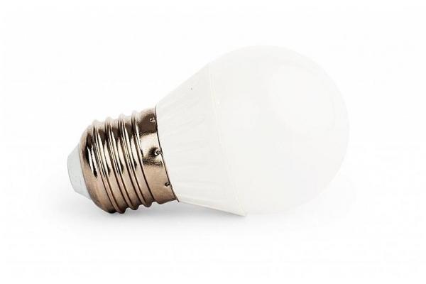 LED žárovka - Berge - E27 - 4W - 360Lm - koule - teplá bílá