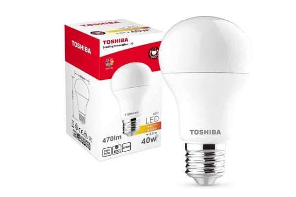 TOSHIBA LED žárovka - Berge - E27 - CCD - 5,5W - 470Lm - teplá bílá - záruka 5let