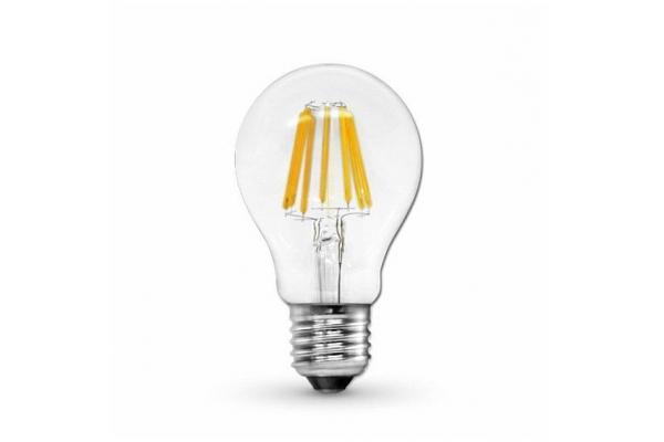 LED žárovka - Berge - E27 - 8W - 880Lm - filament - teplá bílá