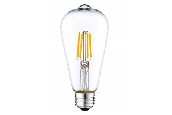 LED žárovka - Berge - E27 - ST64 - 12W - 1320Lm - filament - teplá bílá