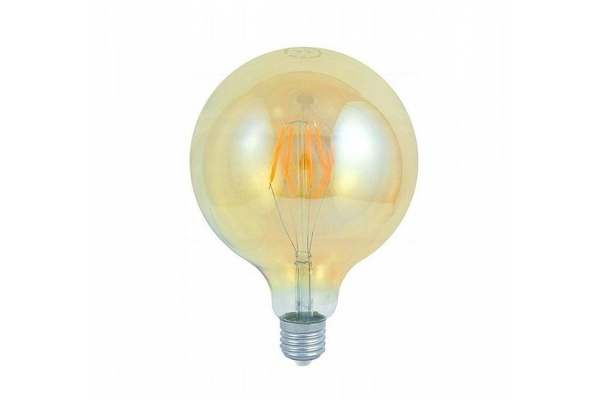 LED žárovka G125 EDISON AMBER - Berge - E27 - 4W - 320Lm - teplá bílá - 2000K