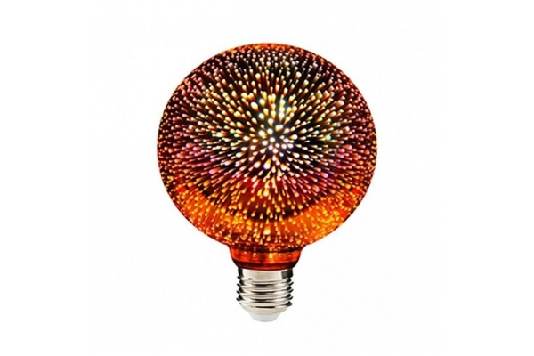 SANICO LED vánoční žárovka 3D - E27 - 3,5W - G95