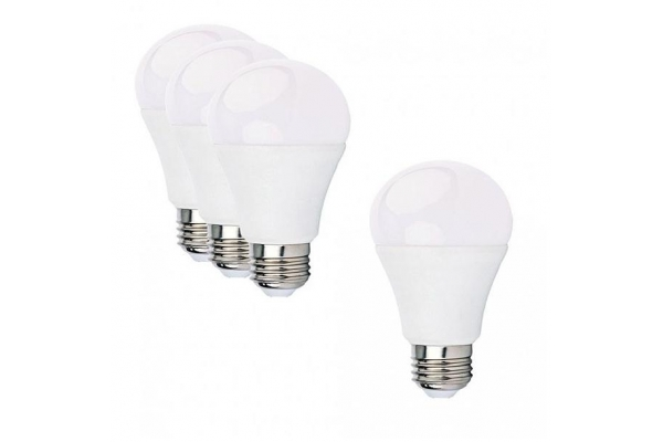3+1 LED žárovka - E27 - A60 - 12W - 1080Lm - studená bílá