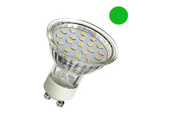 LED žárovka - Berge - GU10 - 1W - 80Lm - 230V - zelená