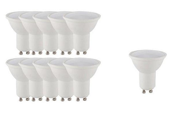 AKCE 10+1 LED žárovka -Berge -  SMD 2835 - GU10 - 6W - 580Lm - teplá bílá
