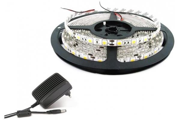 BERGE LED Pásek - SMD 3528 - 2,5m - 60LED/m - 12W - neutrální bílá - IP65 - zdroj SADA