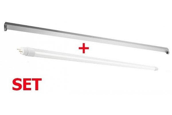Přisazené kovové těleso + LED trubice 120cm - 18W - 1600Lm - neutrální bílá