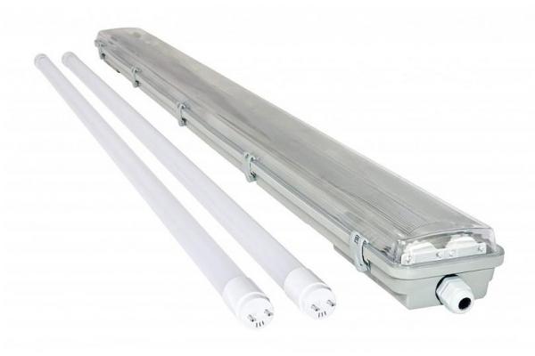BERGE Svítidlo + 2x LED trubice - T8 - 120cm - 18W - studená bílá - SADA