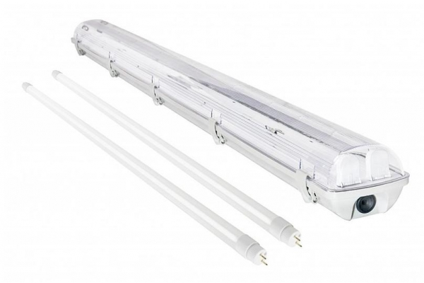 BERGE Svítidlo + 2x LED trubice - T8 - 120cm - 18W - 3240Lm - neutrální bílá - SADA
