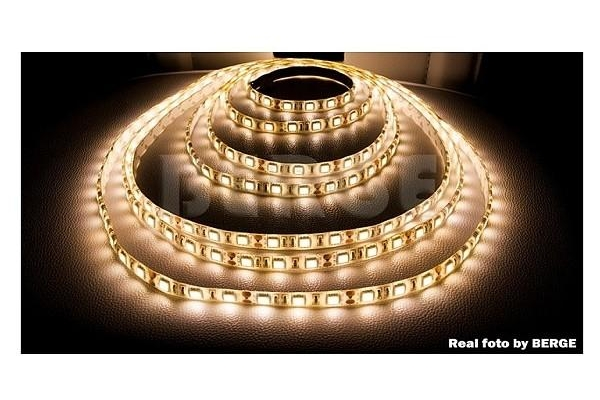 BERGE LED pásek - SMD 5050 - 1m - 60LED/m - 14,4W/m - IP65 - teplá bílá