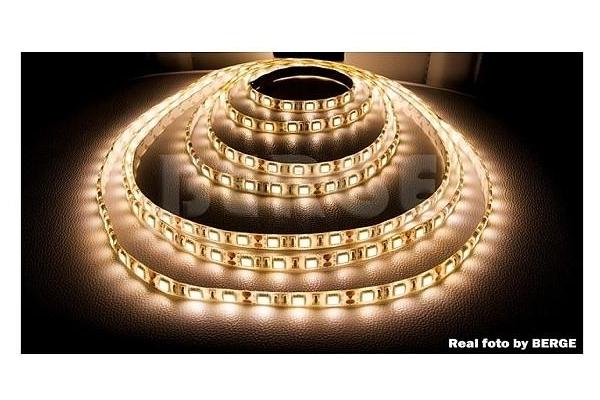 BERGE LED pásek - SMD 5050 - 2,5m - 60LED/m - 14,4W/m - IP65 - teplá bílá