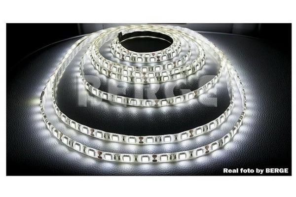 BERGE LED pásek - SMD 5050 - 5m - 60LED/m - 14,4W/m - IP65 - studená bílá