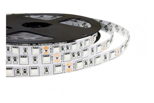 BERGE LED pásek - SMD 5050 - 5m - 60LED/m - 14,4W/m - IP65 - červená+modrá