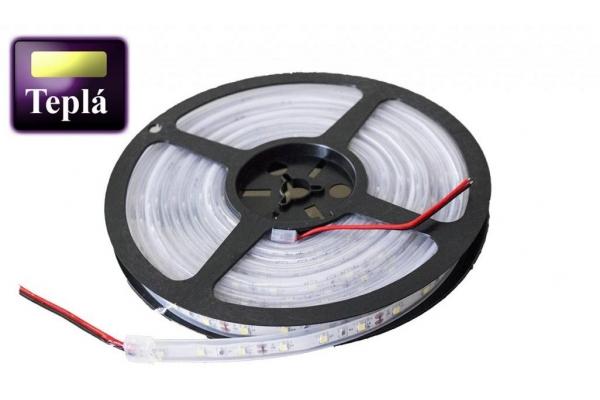 BERGE LED pásek - SMD 2835 - 5m - 60LED/m - 10,8W/m - IP67 - teplá bílá