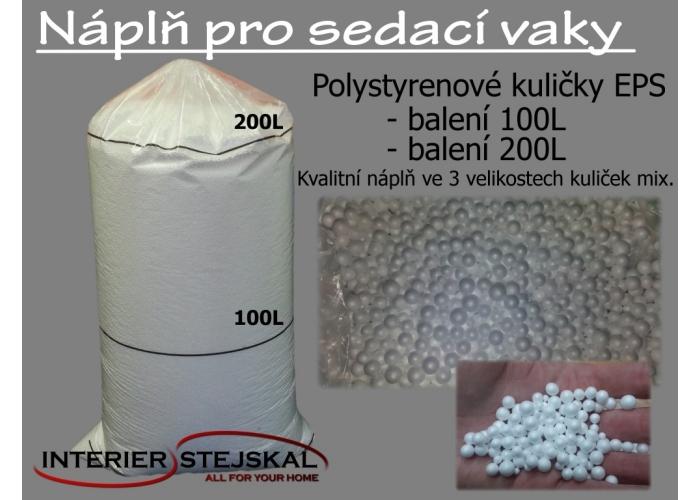 Náplň pro sedací vak - kuličky EPS 200L