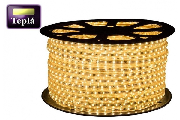 BERGE LED pásek - 230V - SMD 2835 - 1m - 120LED/m- 11W/m - 750L - IP68 - teplá bílá - 14mm
