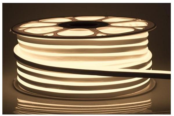 LED pásek NEON - 230V - 1m - 8W/m - IP68 - vodotěsný - teplá bílá