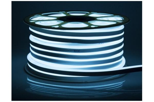 LED pásek NEON - 230V - 1m - 8W/m - IP68 - vodotěsný - cyan