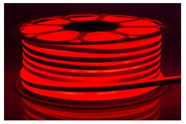 LED pásek NEON - 230V - 1m - 8W/m - IP68 - vodotěsný - červený