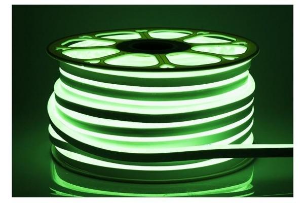 LED pásek NEON - 230V - 1m - 8W/m - IP68 - vodotěsný - zelená
