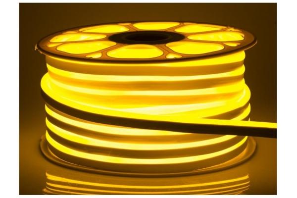 LED pásek NEON - 230V - 1m - 8W/m - IP68 - vodotěsný - žlutá