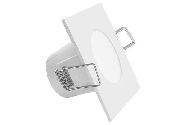GREENLUX Podhledové koupelnové svítidlo LED BONO - čtverec - 5W - 330Lm - IP65 - teplá bílá -