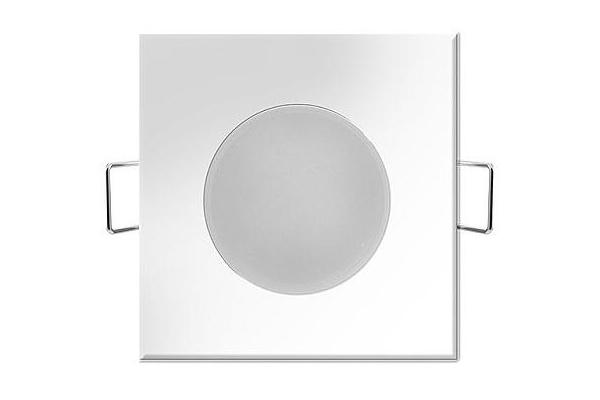 GREENLUX Podhledové koupelnové svítidlo LED BONO - čtverec - 5W - 350Lm - IP65 - neutrální bílá
