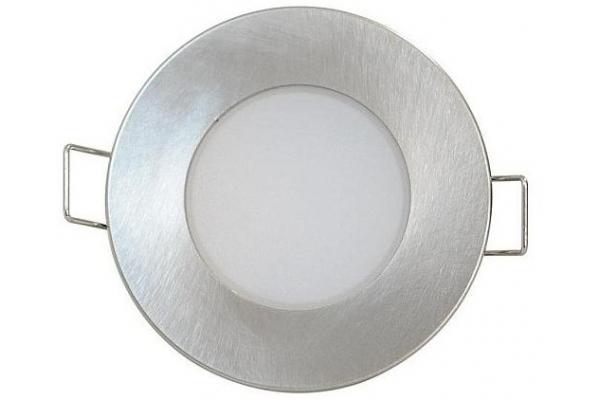 GREENLUX Podhledové bodové svítidlo LED BONO-R - MATT CHROM - koupelnové - 5W - IP65 - teplá bílá -