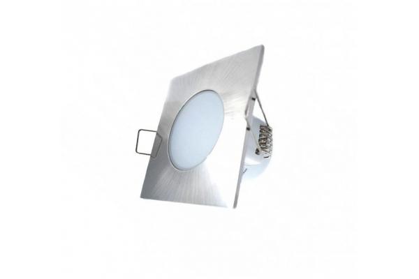 GREENLUX Podhledové koupelnové svítidlo LED BONO - čtverec - CHROM MATT - 5W - 350Lm - IP65 - neutrální bílá