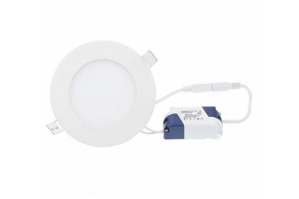 LED panel KRUHOVÝ BRGD0101 vestavný - 120x120x12mm - 6W - 230V - 390Lm - teplá bílá