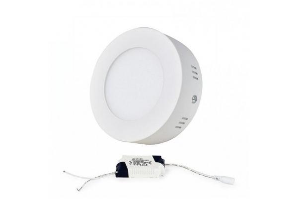 LED panel KRUHOVÝ BRGD0111 120x120x30mm přisazený - 6W - 230V - 390Lm - teplá
