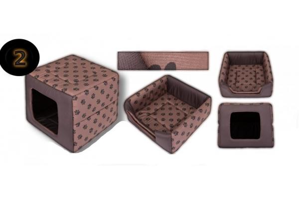 Pelíšek DOUBLE BOX+bouda a...