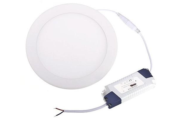 LED panel KRUHOVÝ BRGD0108 - 300x300x17mm vestavný - 24W - 230V - 1900Lm - teplá bílá