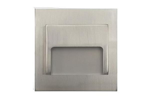 PREMIUMLUX LED schodišťové svítidlo ON0002 ONTARIO 70 x 70mm - 1,5W - 12V - 33Lm - chrom matný - teplá bílá