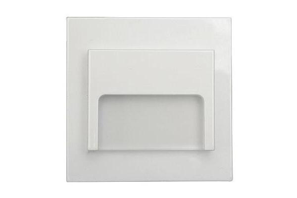 PREMIUMLUX LED schodišťové svítidlo ON0003 ONTARIO 70 x 70mm - 1,5W - 12V - 33Lm - bílá - studená bílá