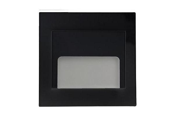 PREMIUMLUX LED schodišťové svítidlo ON0006 ONTARIO 70 x 70mm - 1,5W - 12V - 33Lm - černá - teplá bílá