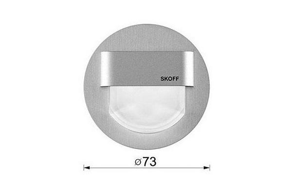SKOFF Svítidlo RUEDA Inox 0,8W Studená bílá