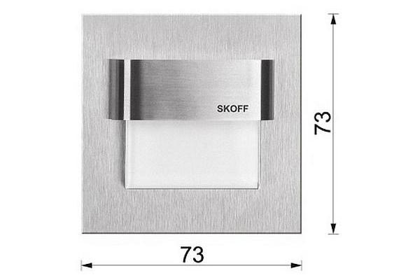 SKOFF Svítidlo TANGO Inox 0,8W Teplá bílá