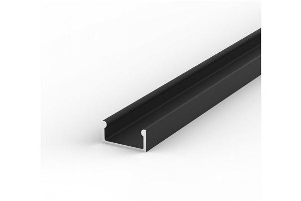 Hliníkový Profil pro LED pásky BRG-4 černý 1M
