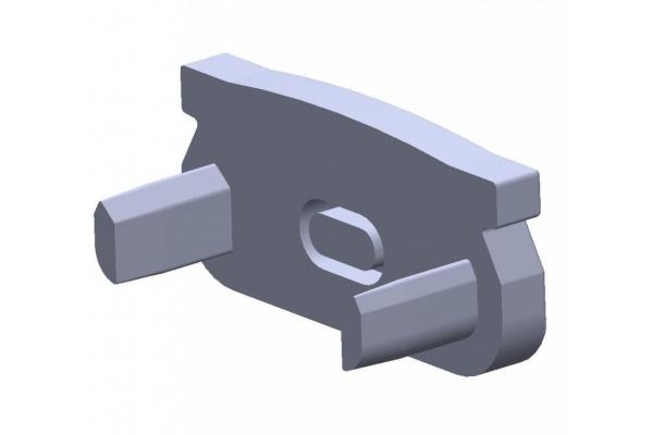 Plastová krytka pro profil - P01 - stříbrná