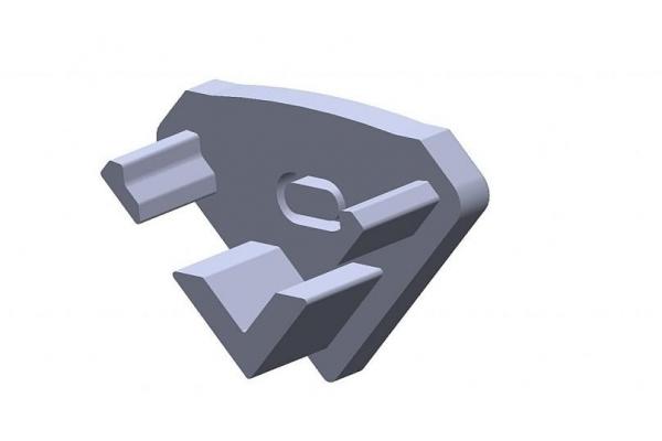 Plastová krytka pro profil - P03 - stříbrná