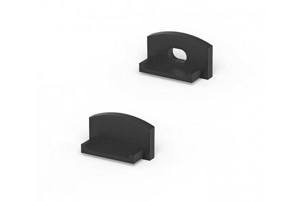 Krytky pro profil BRG-4 - černá - pár