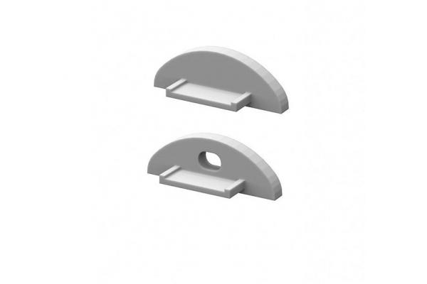 KRYTKA KONCOVÁ pro profil BRG-2 stříbrná PÁR