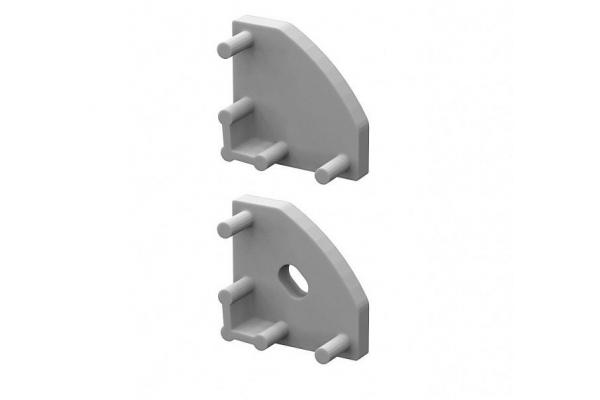 KRYTKA KONCOVÁ pro profil BRG-3 stříbrná PÁR