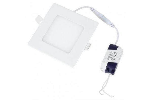LED panel ČTVERCOVÝ BRGD0060 83x83x15mm vestavný - SANAN 2835 - 3W - 230V- 200Lm - teplá bílá
