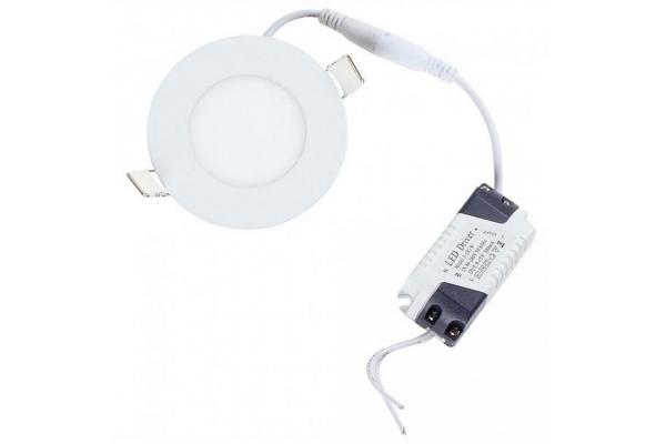 LED panel KRUHOVÝ BRGD0057 83x83x15mm vestavný - SANAN 2835 - 3W - 230V - 200Lm - teplá bílá